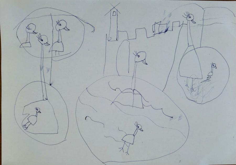 Przyjaciel przyrody - farmerka, pośród kaczek i łabędzi :) Prace Oliwki