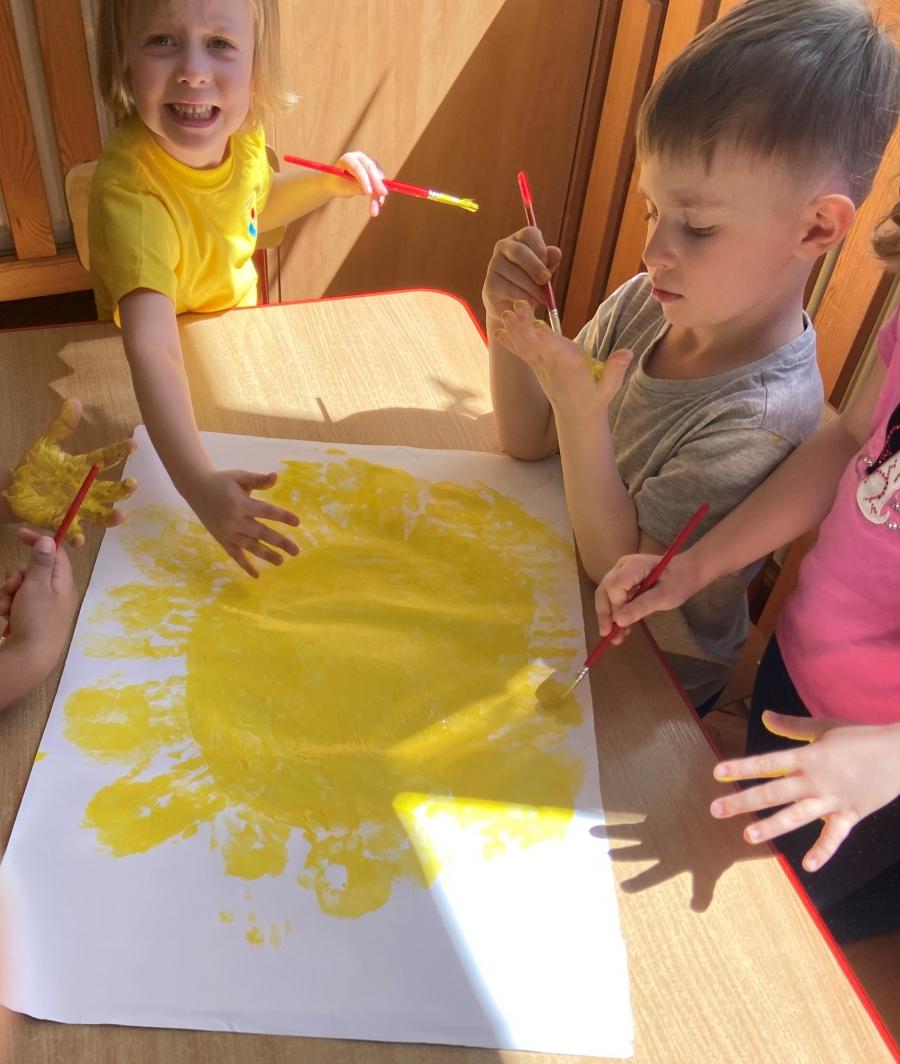 Słoneczko nasze malowane.