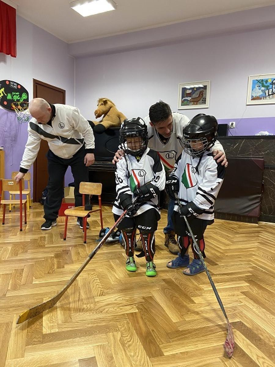 Wizyta trenerów hokeja na lodzie
